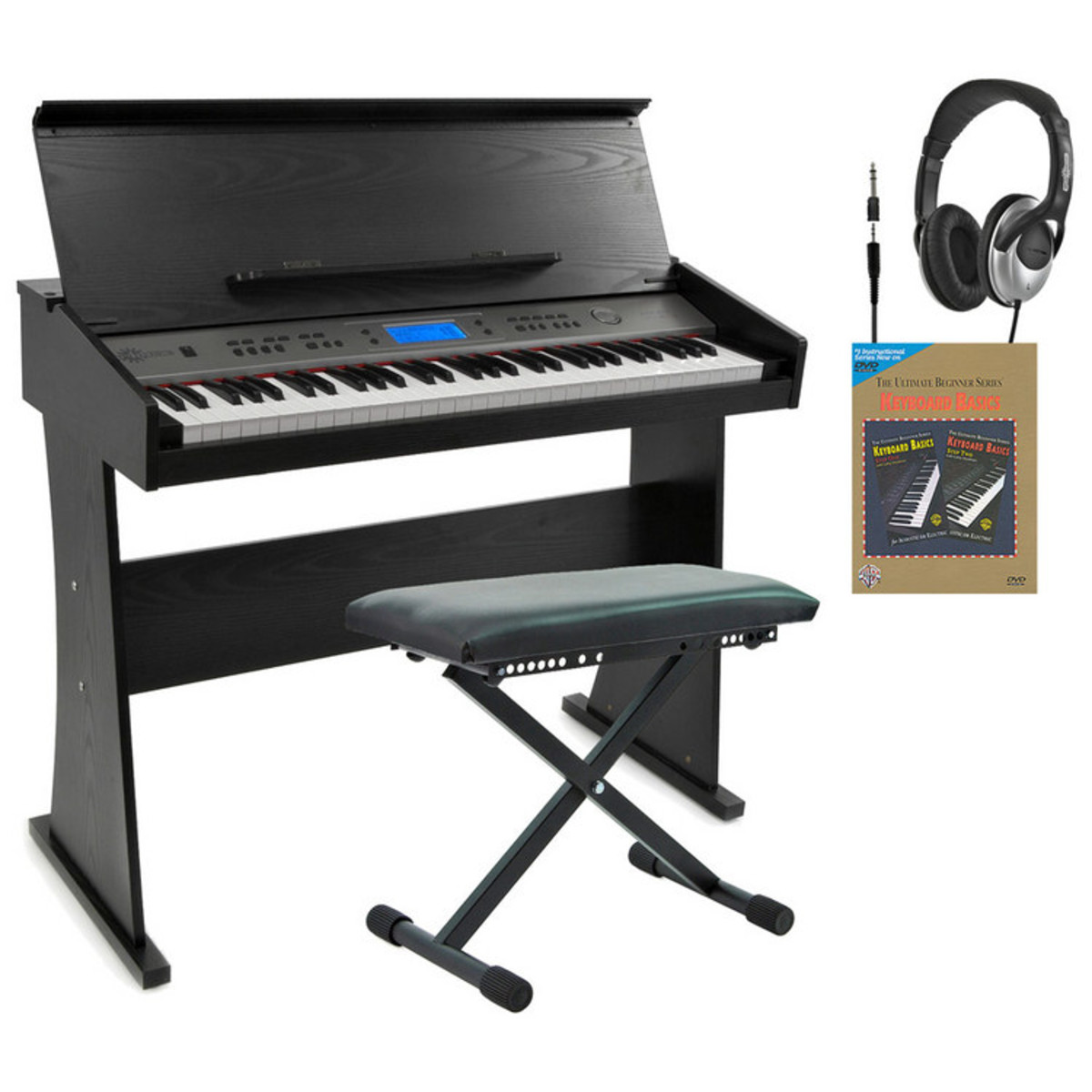 Disc ak 818 keyboard with stand by gear4music black for Stand pack