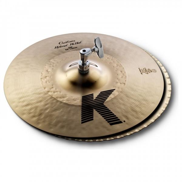 "Zildjian K Custom 13 1/4"" Hybrid Hi-Hat Pair"