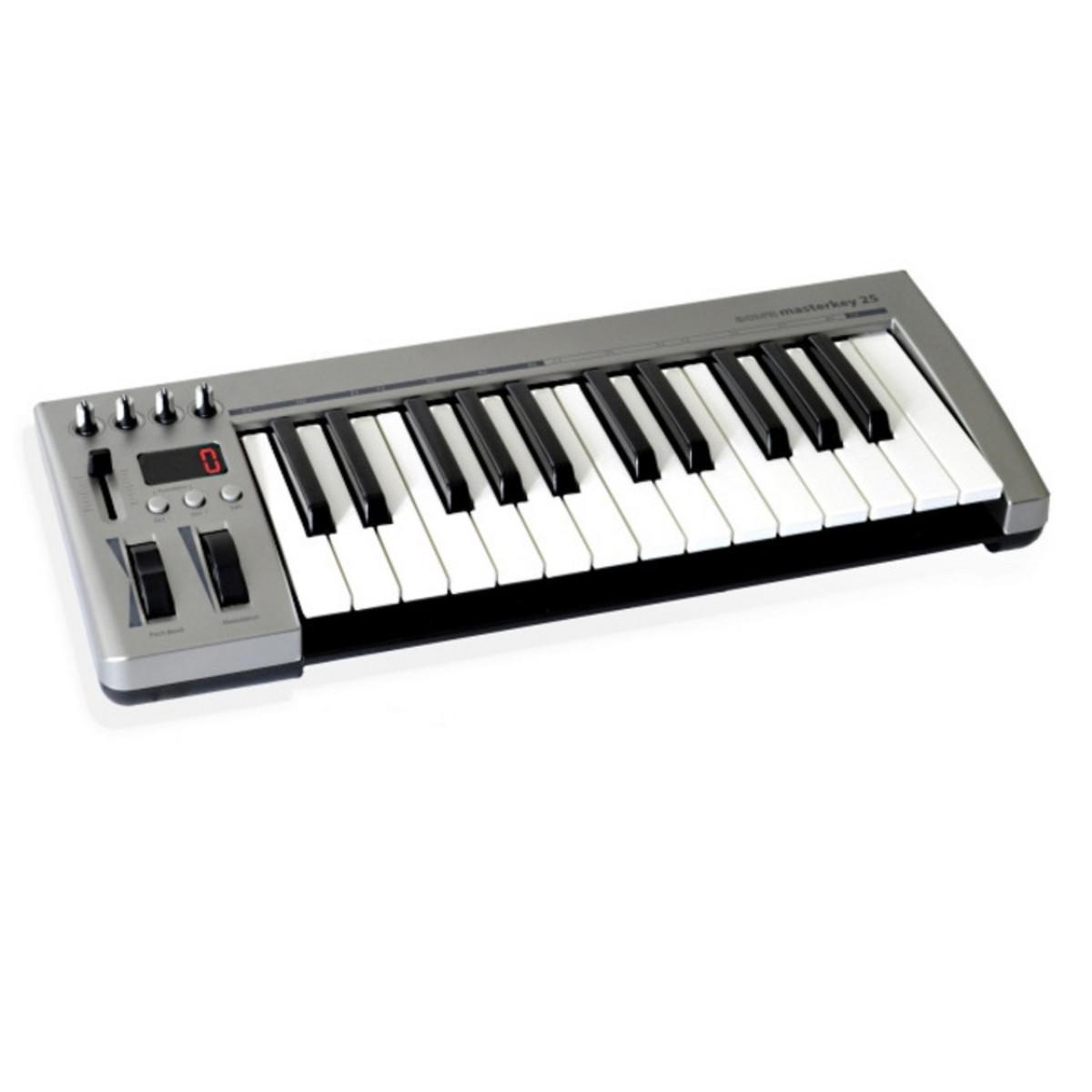 acorn instruments masterkey 25 key usb midi keyboard at. Black Bedroom Furniture Sets. Home Design Ideas