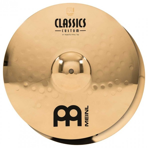"Meinl Classics Custom 14"" Powerful Hi-Hat, Pair"