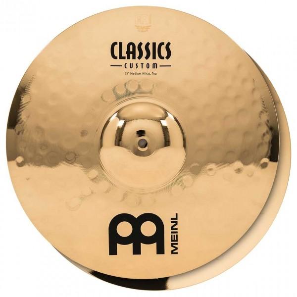 """Meinl Classics Custom 15"""" Medium Hi-Hat, Pair"""