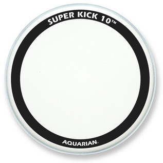 "Aquarian Super Kick 10 Clear Double Ply 18"" Bass Drum Head"