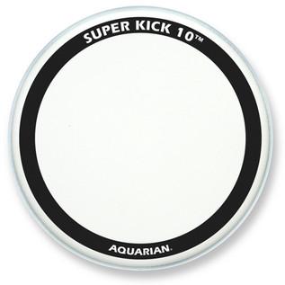 "Aquarian Super Kick 10 Clear Double Ply 24"" Bass Drum Head"