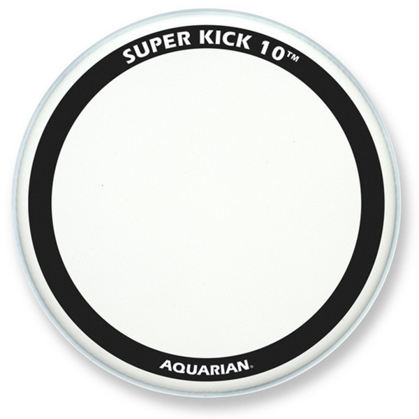 "Aquarian Super Kick 10 Clear Double Ply 24"" Bass Drum Head"