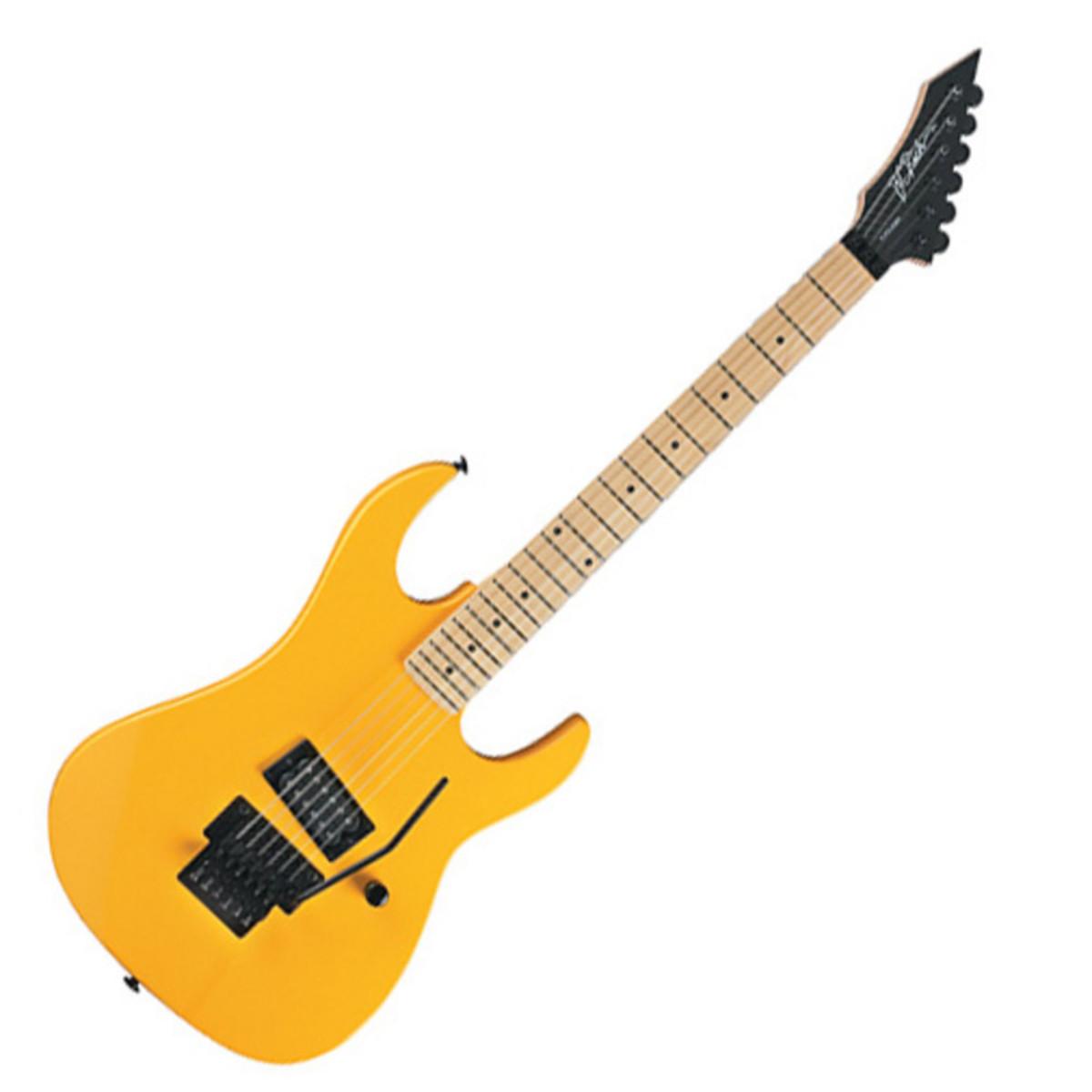 bc rich gunslinger guitare r tro jaune. Black Bedroom Furniture Sets. Home Design Ideas