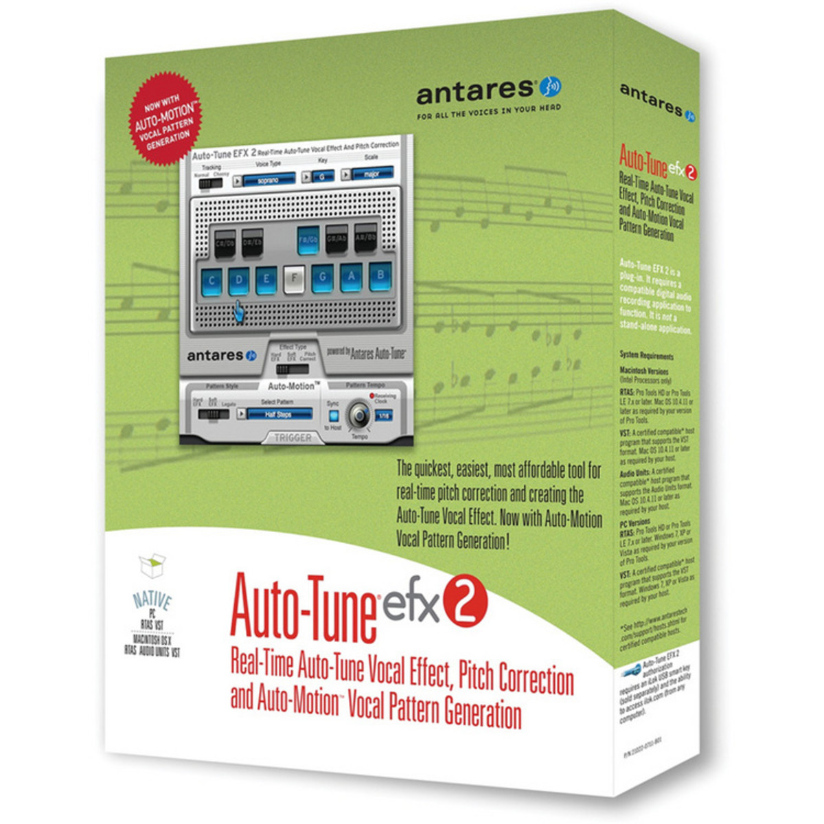disc antares auto tune efx 2 pitch correction software at gear4music com