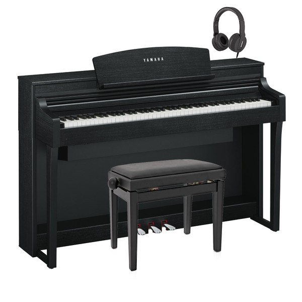 Yamaha Clavinova CSP 170 Digital Piano Pack, Satin Black