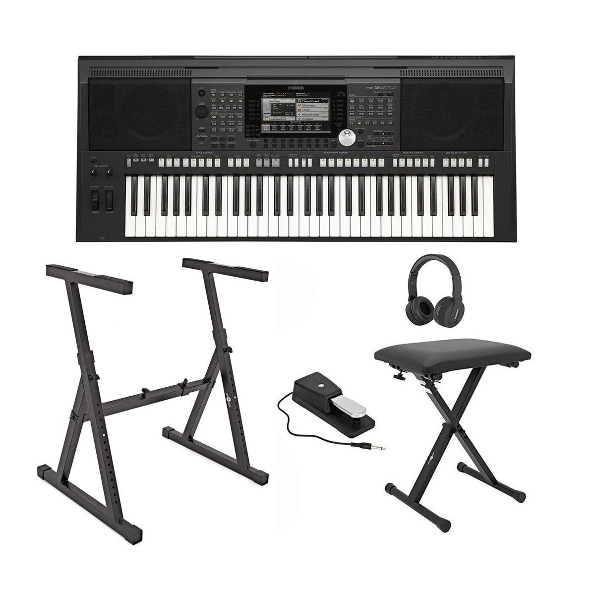 yamaha psr s970 portable arranger workstation bundle at. Black Bedroom Furniture Sets. Home Design Ideas