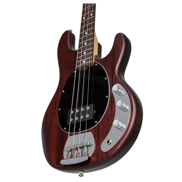 S.U.B by Sterling, Ray4, Rosewood Neck, Walnut Satin front angle view