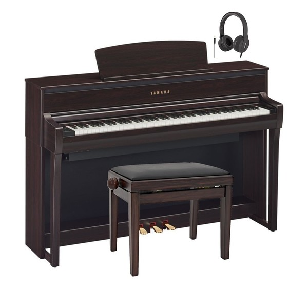 Yamaha CLP 675 Digital Piano Package, Rosewood