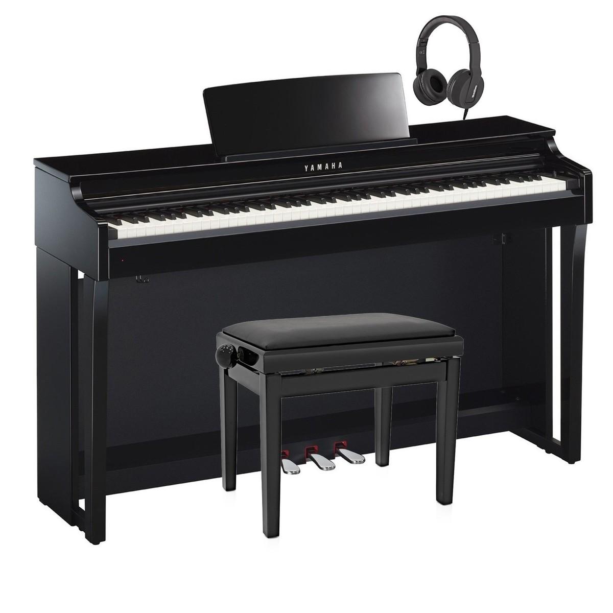yamaha clp 625 digital piano package polished ebony at. Black Bedroom Furniture Sets. Home Design Ideas
