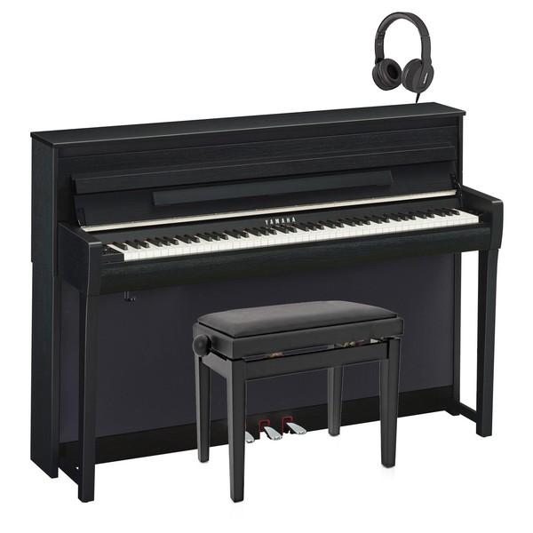 Yamaha CLP 685 Digital Piano Package, Satin Black