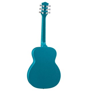 Luna Aurora Borealis 3/4 Guitar, Teal Back View