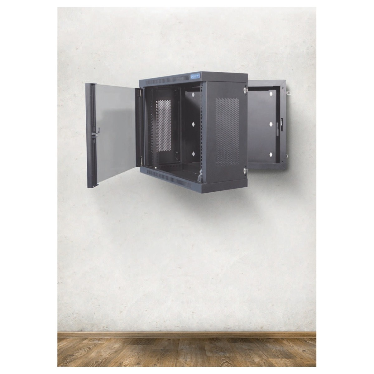 DISC Eagle P729E 18U Wall-Mounting Rack Cabinet With Hinged Back