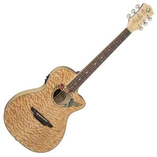 Luna Fauna Hummingbird Parlor Electro Acoustic Guitar Front View