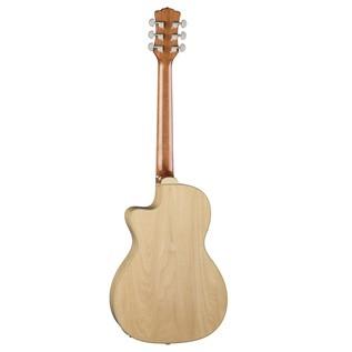 Luna Fauna Hummingbird Parlor Electro Acoustic Guitar Back View