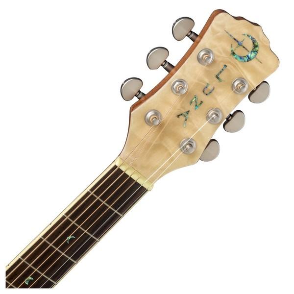 Luna Fauna Hummingbird Parlor Electro Acoustic Guitar Neck & Headstock View