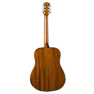 Luna Gypsy Henna Dreadnought Acoustic Guitar Back View