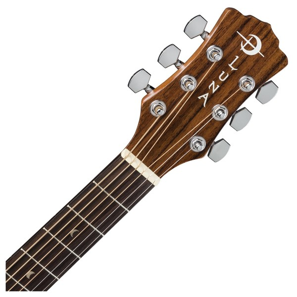Luna Gypsy Henna Dreadnought Acoustic Guitar Neck & Headstock View