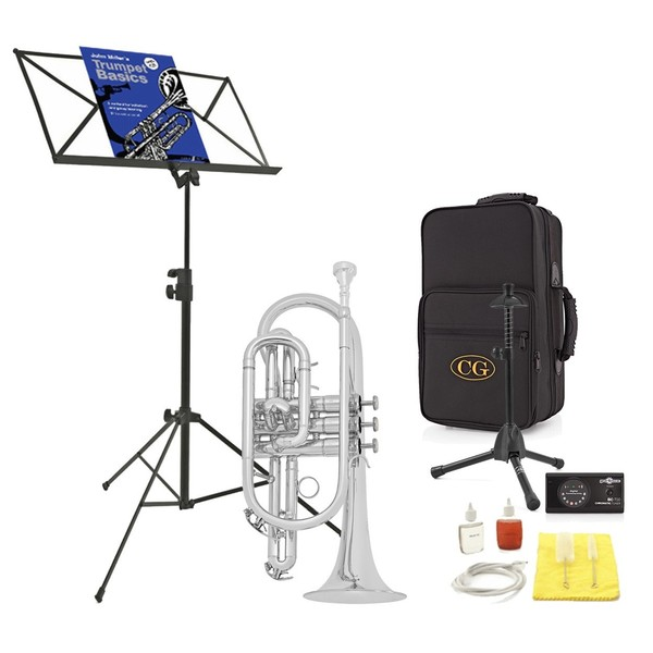 Coppergate Intermediate Cornet, Silver + Accessory Pack