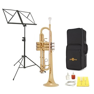 Deluxe Trumpet by Gear4music + Accessory Pack