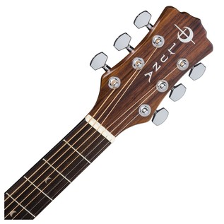 Luna Gypsy Muse Dreadnought Acoustic Guitar + Gig Bag Neck & Headstock View