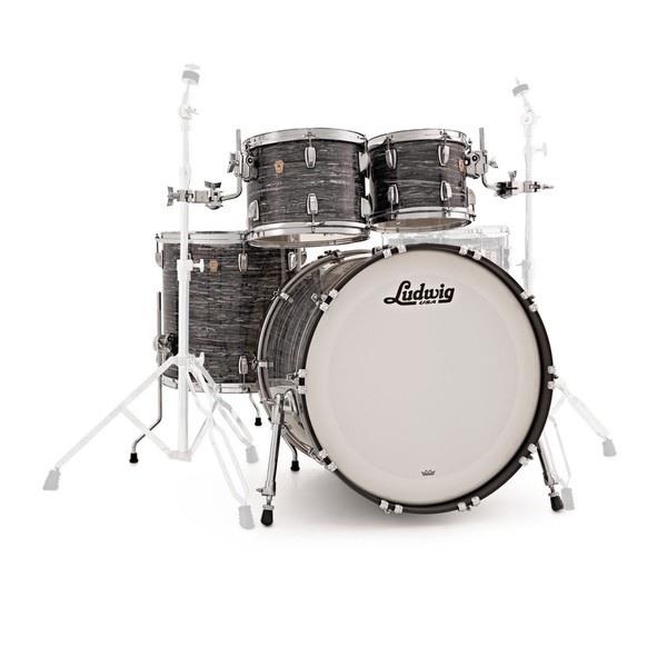 Ludwig Classic Maple Shell Pack, Black Oyster w/ Free Matching Snare