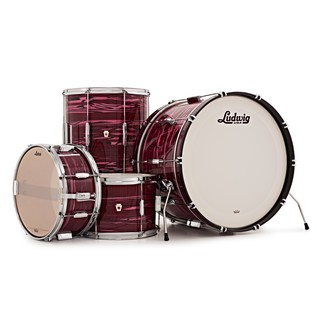 "Ludwig Club Date 22"" Shell Pack, Ruby Strata w/ Free Matching Snare"