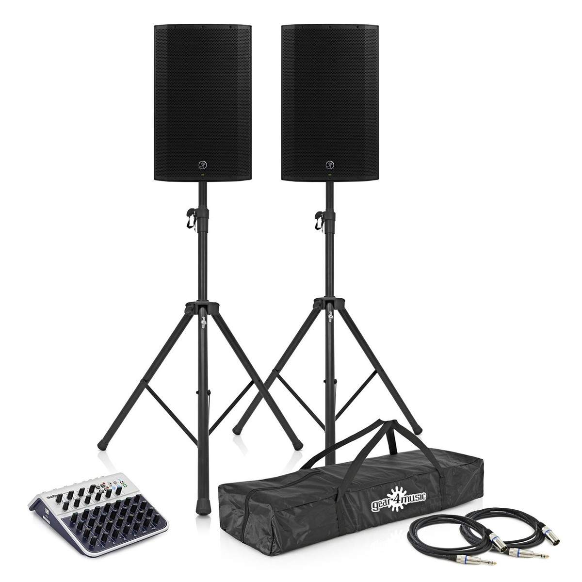 Mackie Thump 12A Active PA Speaker Pair with Speaker Stands