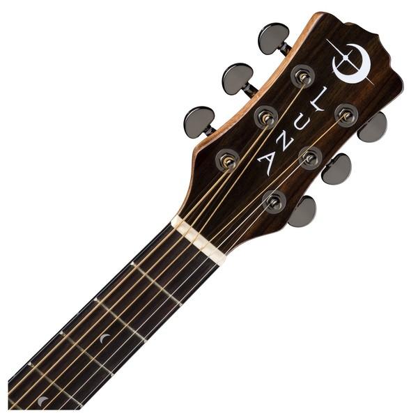 Luna Gypsy Spalt Grand Auditorium Acoustic Guitar Neck & Headstock View