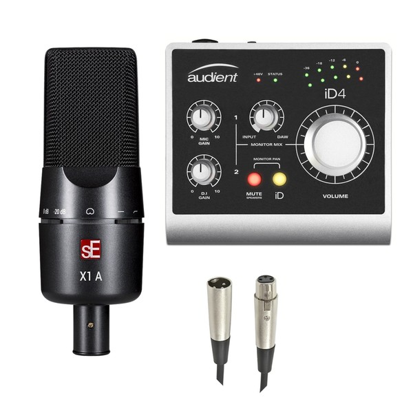 sE Electronics X1 A Condenser Mic With Audient iD4 Interface, Cables