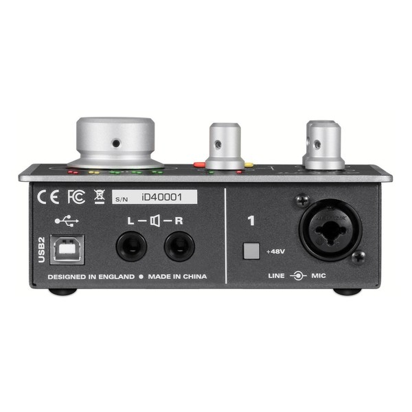 Audient ID4 Audio Interface - Rear