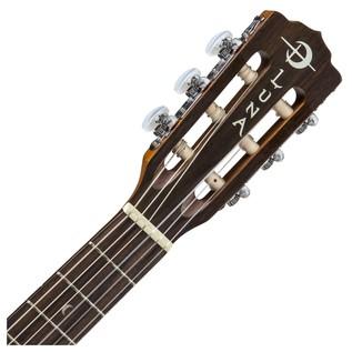 Luna Safari Muse Nylon Travel Guitar + Gig Bag Neck & Headstock View