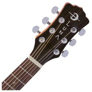 Luna Safari Muse Spruce Travel Guitar + Gig Bag Neck & Headstock View