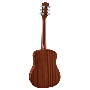 Luna Safari Muse Mahogany Travel Guitar + Gig Bag Back View