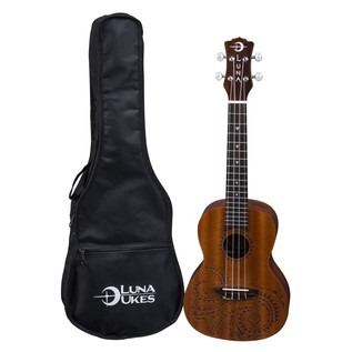 Luna Tattoo Concert Ukulele + Gig Bag