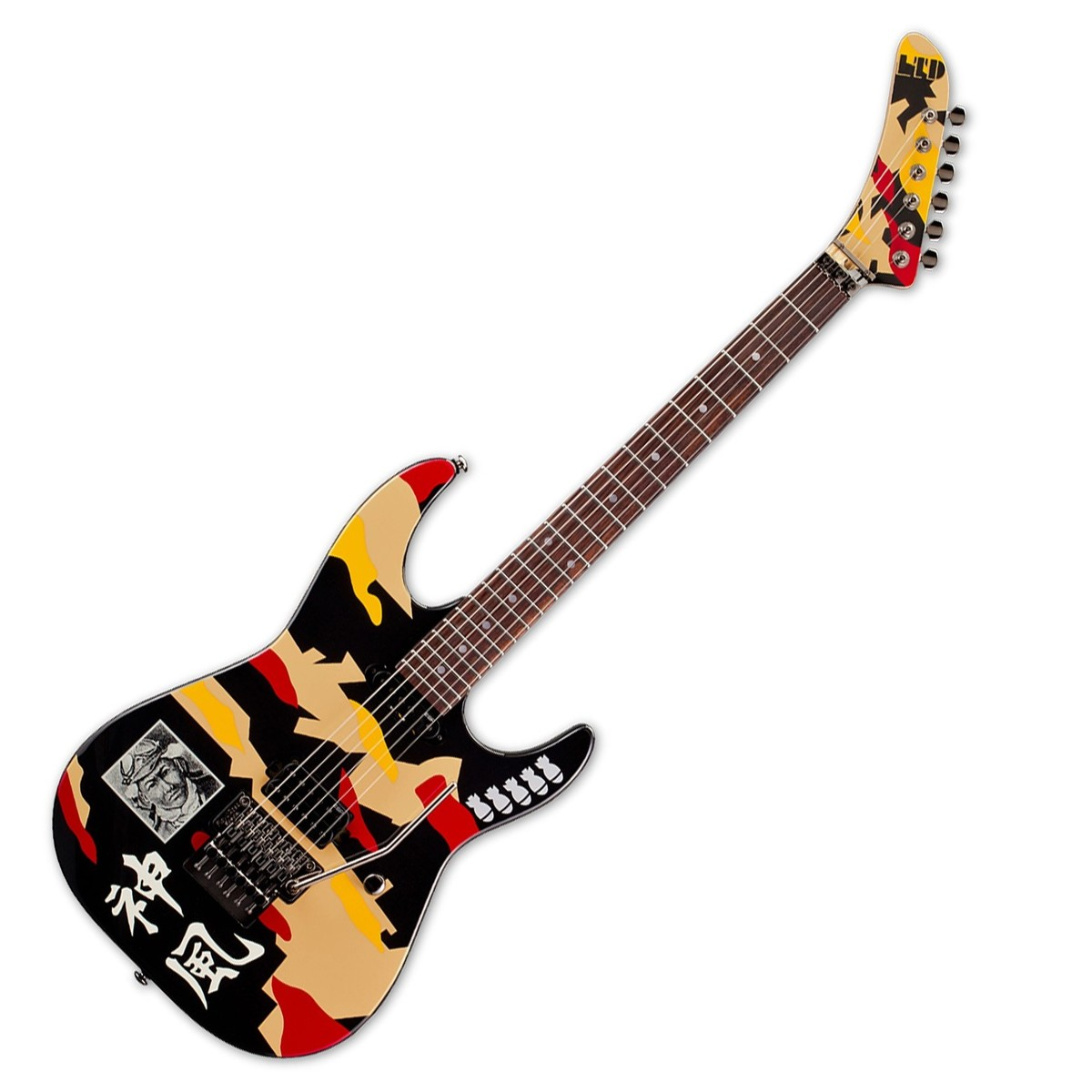 disc esp ltd gl200k george lynch electric guitar kamikaze graphic at gear4music. Black Bedroom Furniture Sets. Home Design Ideas