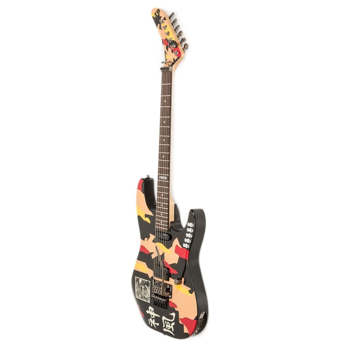 esp ltd gl200k george lynch electric guitar kamikaze graphic at. Black Bedroom Furniture Sets. Home Design Ideas
