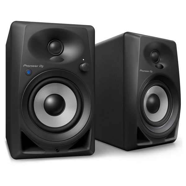 Pioneer DJ DM-40BT Desktop Monitor Speakers With Bluetooth, Black - Front