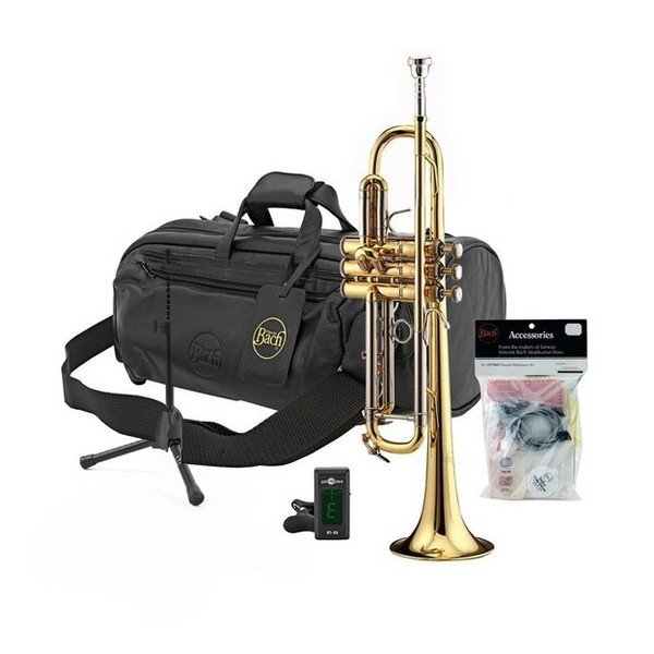 Bach VBS1 Gold Lacquer Trumpet Pack
