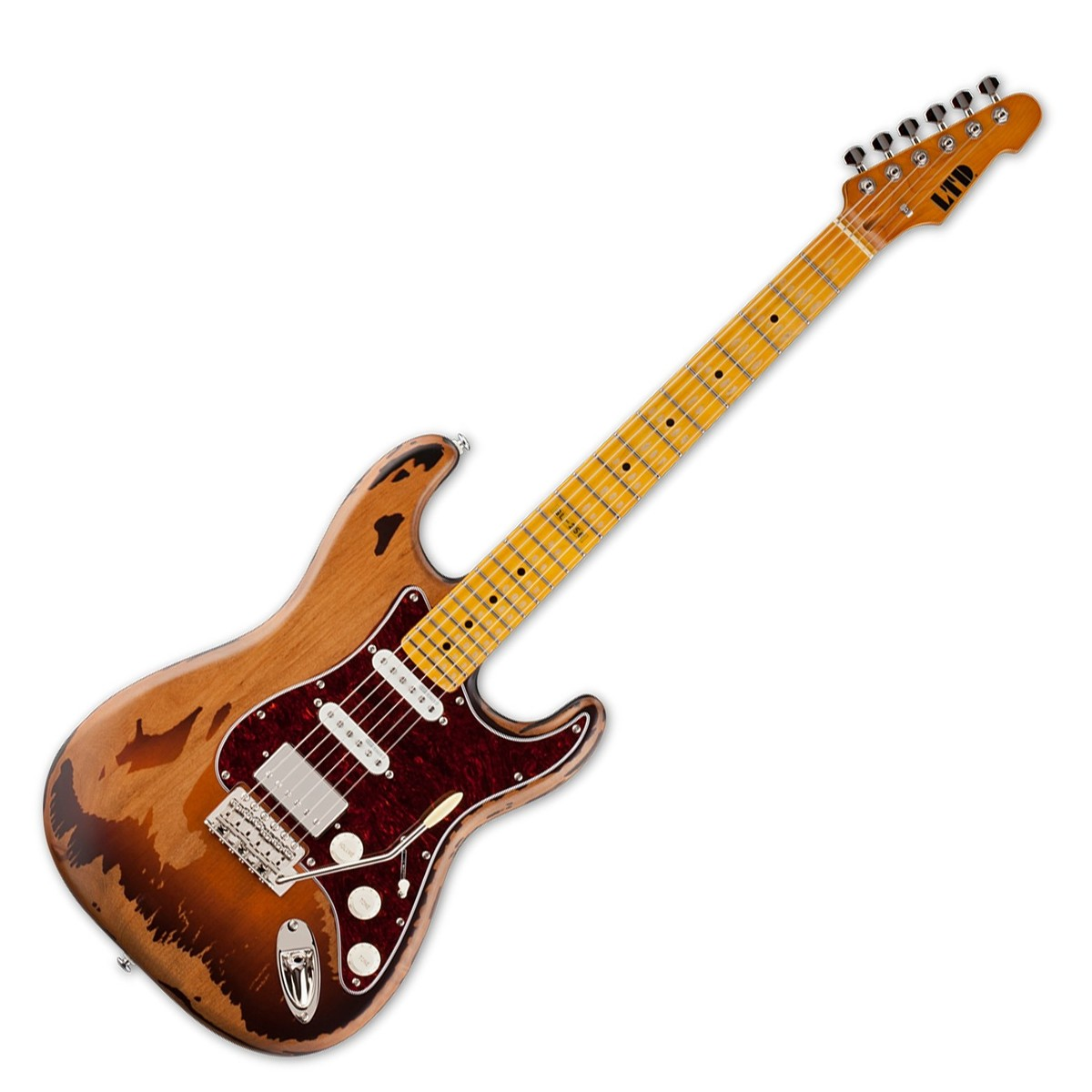 esp ltd gl 256 george lynch electric guitar distressed 2 tone at gear4music. Black Bedroom Furniture Sets. Home Design Ideas