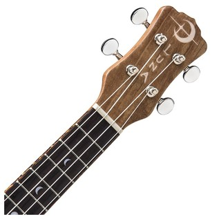 Luna Concert Ukulele, Spalt Maple Neck & Headstock View