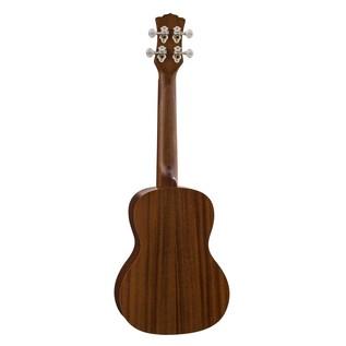 Luna Mo'o Electro Acoustic Concert Ukulele, Solid Cedar Top Back View