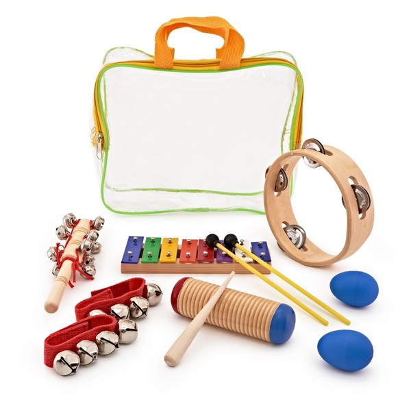 Shake and Jingle 6 Piece Kids Percussion Set by Gear4musi