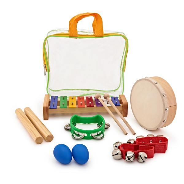 Drum and Jingle 6 Piece Kids Percussion Set by Gear4music
