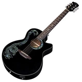Luna Fauna Dragon Electro Acoustic Guitar Slanted View