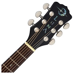 Luna Fauna Dragon Electro Acoustic Guitar Neck & Headstock View