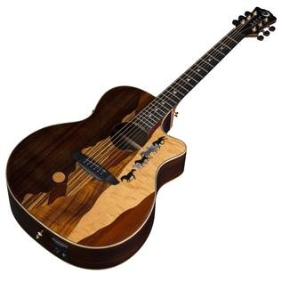 Luna Vista Mustang Electro Acoustic Guitar Slanted View