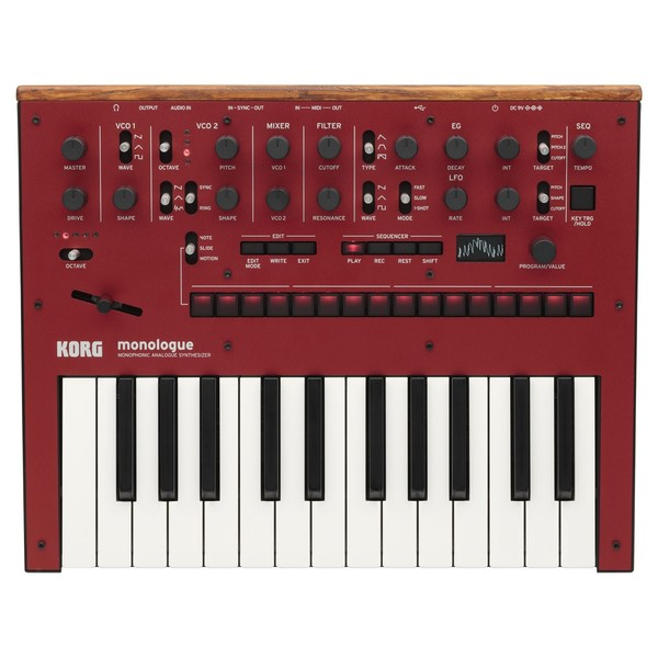 Korg Monologue Analogue Synthesizer, Red - Top