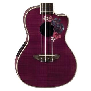 Luna Floral Electro Acoustic Concert Ukulele Design Feature View
